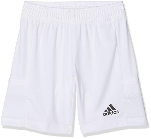 adidas T19 KN SHO Y Sport Shorts, Niños, White, 7-8Y