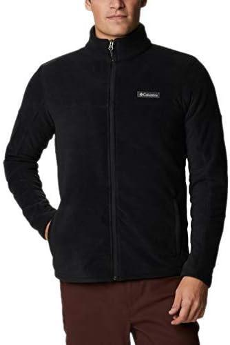 Columbia Men's Mount Grant Fleece Full Zip Jacket, Charcoal Grey, Medium