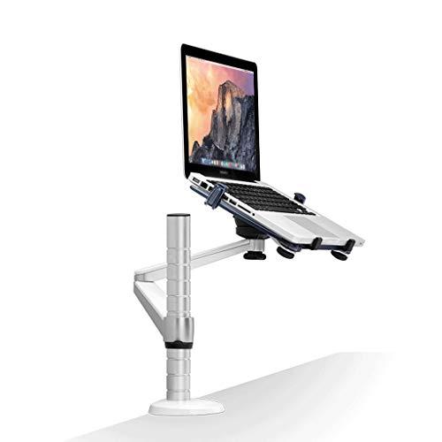 Soporte Monitor Monitor Arm Mount,Monitor de montaje de un solo brazo del soporte del escritorio del ordenador portátil de bandeja basculante giratoria de 10 ~ 15.6 pulgadas equipos portátiles de escr