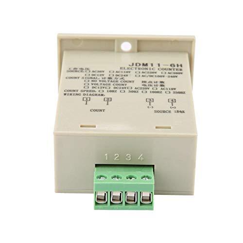 Anti-Jamming Alta Precisión 0-999999 Acumulador 6 dígitos Pantalla reajustable Bajo Consumo de...