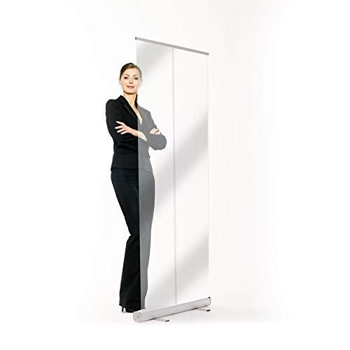 Hygieneschutz Rollup Spuckschutz, Tragbare Transparente Trennwand | (100 x 200 cm)