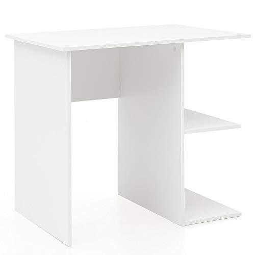 FineBuy Schreibtisch 82 x 76 x 60 cm mit Ablage Weiß | Kinderschreibtisch | Kleiner Laptop PC Tisch Büro ohne Rollen | Bürotisch | Arbeitstisch Klein Computertisch