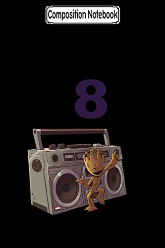 Composition Notebook: Guardians of the Galaxy Groot Boombox Guardians of the Galaxy Journal/Notebook Blank Lined Ruled 6x9 100 Pages