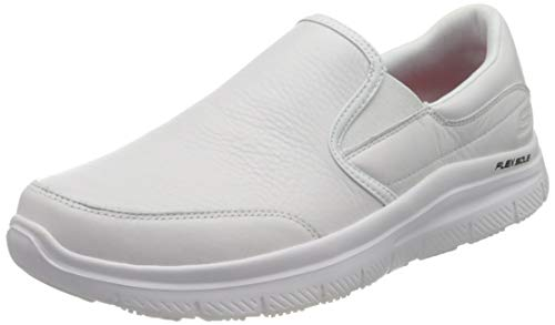 Skechers Flex Advantage SR Bronwood, Scarpe Food Service Uomo, White, 41 EU