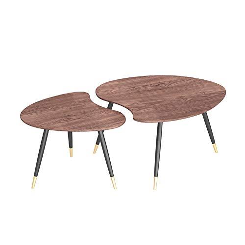 FUFU Mesa Pequeña Patas de la Mesa Sala de Mesa de café Triángulo de anidamiento de la Vendimia Conjunto Mesa Cara con Metales for Muebles de Oficina (Color : C)