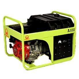 Pramac Industries Portable Generator 4100 Watts, Gasoline, Recoil Start, 120/240V, Lot of 1