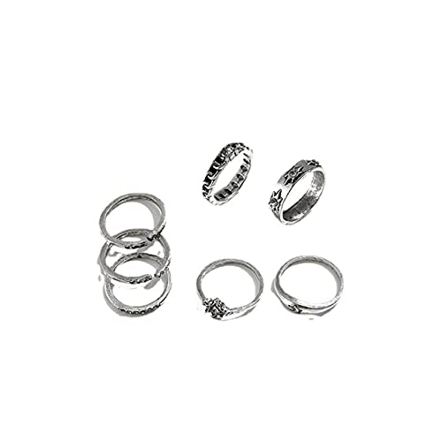Yienate Boho Vintage Knuckle Rings Set Apilables Anillos de unión de banda...