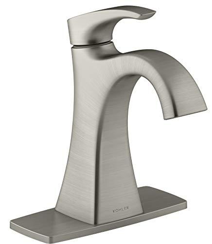 Kohler Maxton Brushed Nickel 1-Handle Single Hole/4-in Centerset Bathroom Faucet