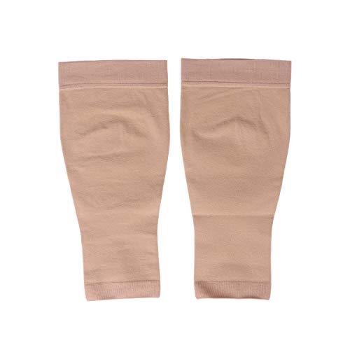 Medias de compresión HEALIFTY de 30 a 40 mm, puntera abierta, sin dedos hasta la rodilla, pantorrilla, para hinchazón, venas varicosas, edema, talla M (piel)