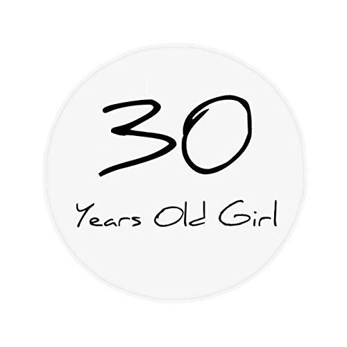 DIYthinker 30 jaar oud meisje leeftijd antislip vloer huisdier mat ronde badkamer woonkamer keuken deur 80Cm gift