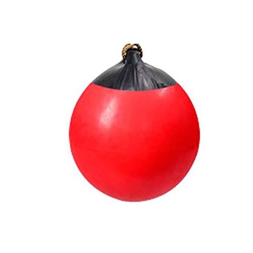 Yipianyun Geburtstagsgeschenk Weihnachten Aufblasbare Kugel Schaukel, Aufblasbare Boje Kugel Schaukel Fun Indoor Outdoor Sphärische Schaukel Kletterseil Baum-Schwingen,Rot