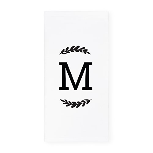 The Cotton & Canvas Co. Personalized Single Monogram Soft and Absorbent Kitchen Tea Towel