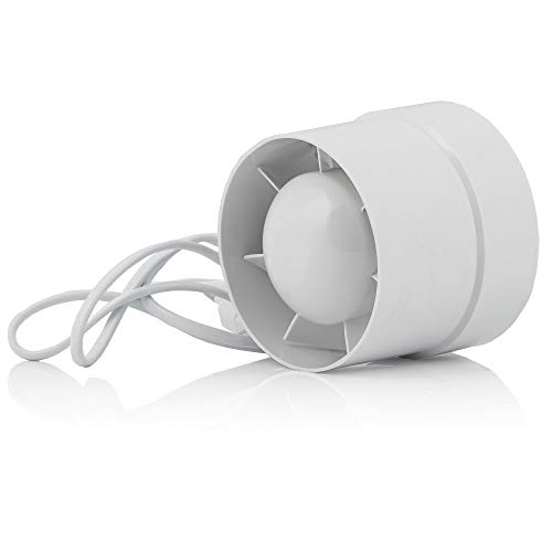 Zelsius Aeratore elettrico per tubi | 130 m³ h Grow Tent | Ø 100 mm | Ventilatore radiale, ventola Grow Box, ventola di scarico Grow Box, ideale per tende da coltivazione, idroponica