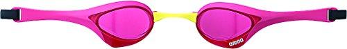 arena(アリーナ) 水泳 ゴーグル グラス クッションタイプ FINA承認 フリーサイズ AGL-170 ピンク×マゼンタ×イエロー(PNKM) くもり止め