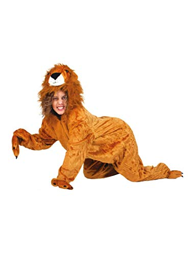Funny Fashion Disfraz de león Salvaje Sanwa Mono Adulto Disfraz Animal Zoo África león (52/54)