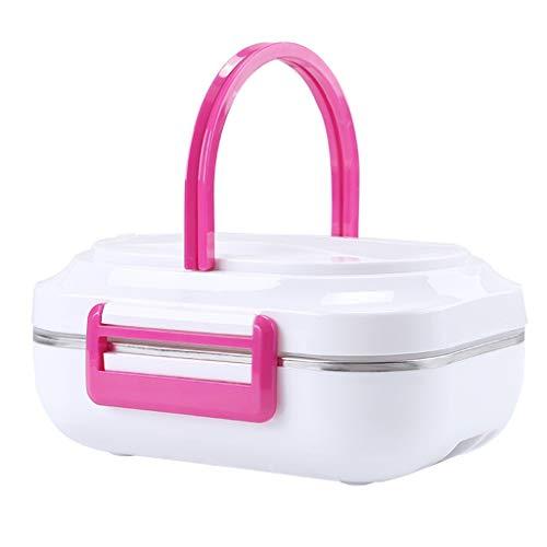 Detrade Tragbar Im Freien Auto Elektroheizung Brotdose Isolierung Aufladen Brotdose Heiß Reiskocher Tragbare Elektrische Lunchbox Home Erwärmer Mahlzeit Mittagessen Heizung 110 V (Pink)