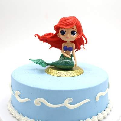 Muñeca de sirena para decoración de tartas de cumpleaños, decoración de tartas, bodas, fiestas, suministros para cumpleaños, fiesta temática de sirena