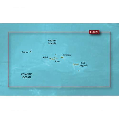 Garmin BlueChart g3 Vision Seekarte Region Europa, Abdeckungsbereich VEU502S - Azoren, Kartengröße Small