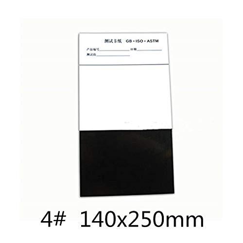 MXBAOHENG 100Halb Schwarz Halb weiß Gitter Relative Verstecken Power Opazität drawdown Diagramme drawdown Karte unbeschichtet drawdown Karte aus Papier Beschichtung, Papier (140x 250mm)