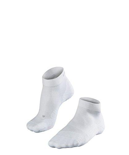 FALKE Herren Golfsocken GO2 short Golfstrümpfe mit Baumwolle, Weiß (White 2000), 42-43