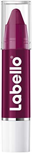 Labello Lips2Kiss Color Lip Balm Black Cherry (3g), Lippenpflege mit intensiver Farbe, Lippenstift mit echter Labello Pflege, beere