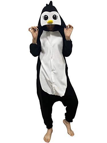 HUTUTU Unisex Pyjamas Cosplay Kostüme OneSize Sleepsuit Schlafanzug Jumpsuit Herren Damen Tieroutfit Tierkostüme,LTY110-Black,S