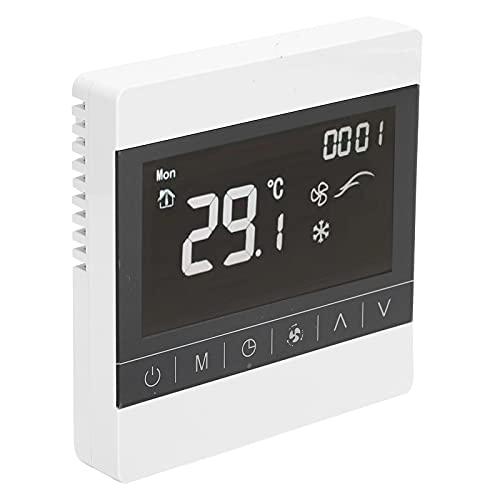 Gmkjh Termostato, Termostato Digitale, Termostato Centrale per Aria Condizionata Touch Screen Intelligent Temperature Controller AC180-260V