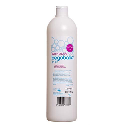Begobaño Jabón Líquido Dermatológico Sin Aroma Ni Perfumes, 1000 Milliliters