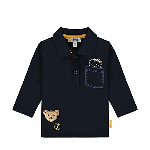 Steiff Longsleeve Camiseta, Azul Marino, 6 Mes para Bebés