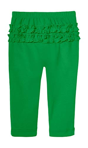 City Threads Baby Girls' Ruffle Leggings Butt Tights Toddler Children Young Kids Pants Play Perfect for Holiday Party Christmas Picture Sensitive Skin SPD Sensory Friendly Clothing, Elf, 18/24m