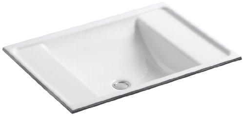 KOHLER K-2838-0 Ledges Undercounter Bathroom Sink, White