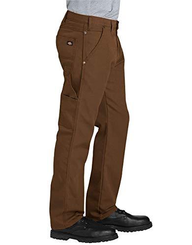 Dickies Men's Tough Max Duck Carpenter Pant, Stonewashed Timber, 36 32