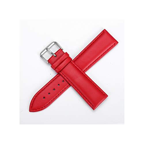 Pelle cinturino in acciaio inox fibbia ad ardiglione cinturini Cinturino tessuto normale 12 24 millimetri, See Chart3,19mm