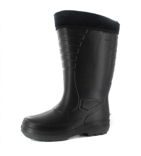 BOCKSTIEGEL - Heiko - Herren EVA-Gummistiefel - Schwarz Schuhe in Übergrößen, Größe:42