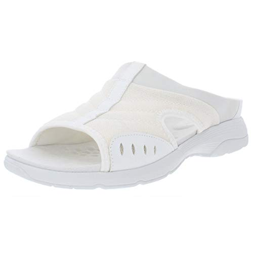 Easy Spirit Womens Traciee2 Open Toe Casual Slide Sandals, White, Size 10.0