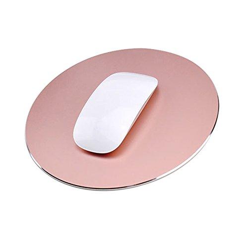 Tapis de Souris Imperméable Jeu de Souris avec Antidérapant Caoutchouc Base Portable Tapis de Mousepad - Rose