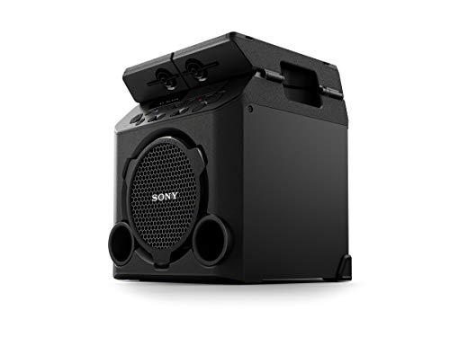 Sony GTK-PG10 - Altavoz inalámbrico portátil, Altavoz para Fiesta de Alta Potencia(Bluetooth, batería Recargable integrada, sintonizador FM, Modo Fiesta al Aire Libre) Negro