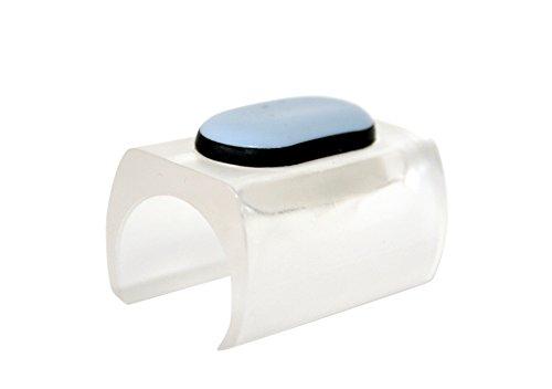 GleitGut Möbelgleiter für Freischwinger transparent - PTFE Klemmgleiter für Rundrohr 23 bis 25 mm - 4 Stück - Teflongleiter für Schwingstuhl