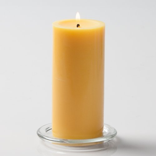 "Richland 3"" X 6"" Hand Poured Yellow Pillar Candle"