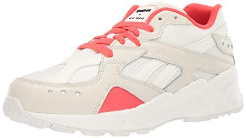 Reebok Unisex Adult's AZTREK Sneaker, Gigi-Chalk/neon red/Black, 5 M US