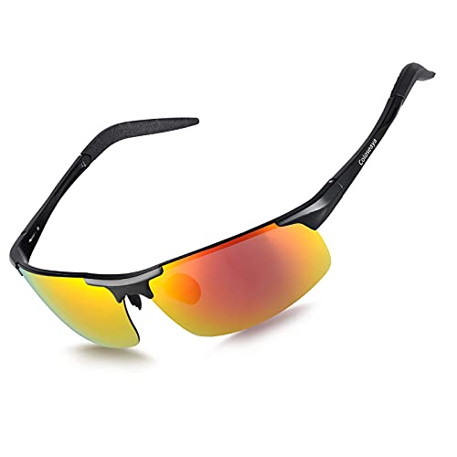 Coloseaya Gafas deportivas polarizadas UV400, para hombre y mujer, para ciclismo, pesca, correr, conducir o golf (Orange)