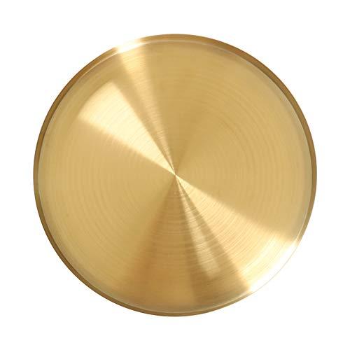 Metall Gold Runde Serviertablett Ornamente Schmuck Tablett Servierteller Küche Obst Lebensmittel Dessert Party Servierteller Weihnachtsgeschenke 12-20-30cm