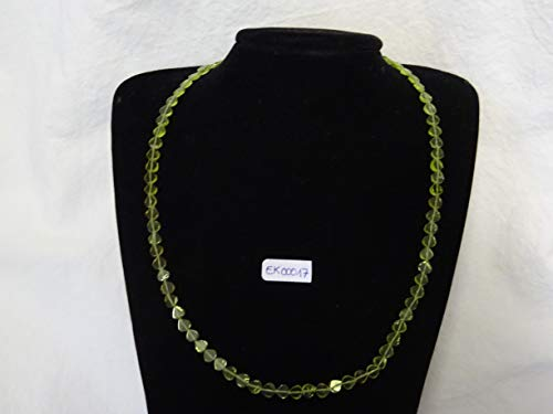 MS Mineralien Edelstein Halskette, Peridot Kette, Schmuck, Edelstein-Collier, Peridot-Collier EK00017
