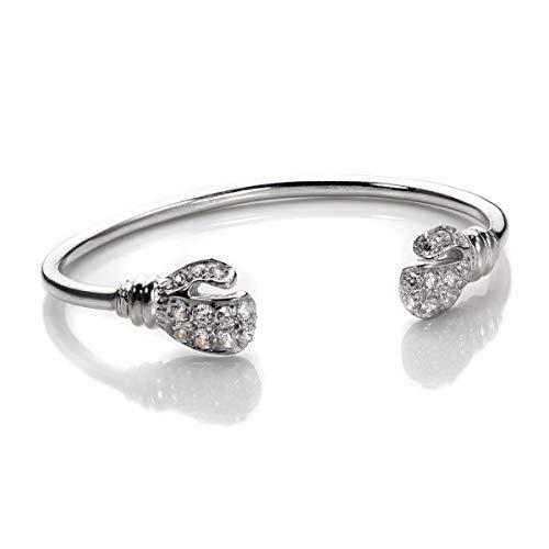 jewellerybox Silber Baby Kristall CZ Boxhandschuh Armreif