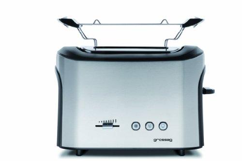 grossag TA 64 Toaster, edelstahl/schwarz