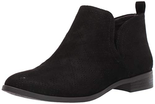 Dr. Scholl's Shoes Women's Rise Ankle Boot, Black Microfiber Perforated, 8.5 M US