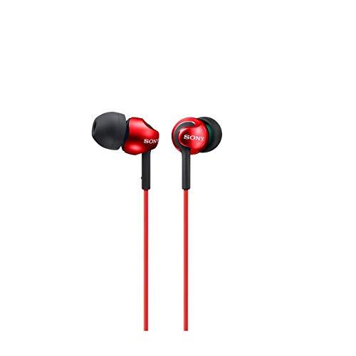 Sony MDR-EX110LP - Auriculares in-ear, color rojo