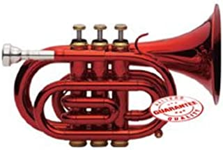 Fever Red Pocket Trumpet With Case, WALPOKL-RD