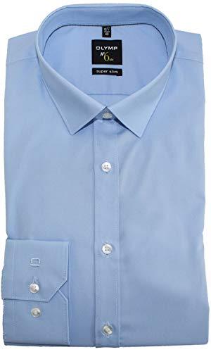 OLYMP No. Six super Slim Hemd Langarm New Kent Kragen hellblau Größe 42