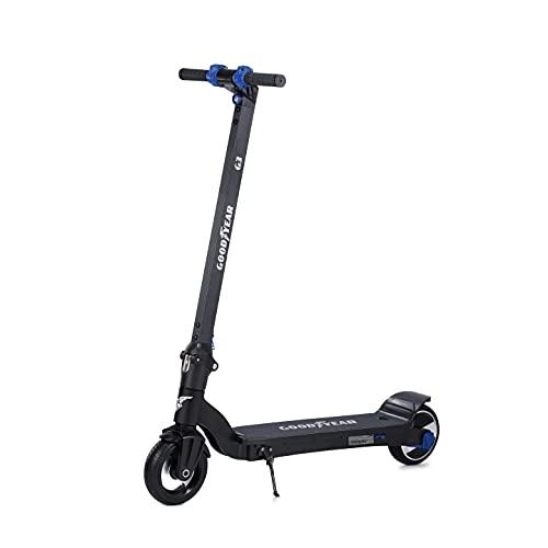 Goodyear Trottinette électrique adulte G6, 30 km dautonomie, 25 km/h maximum, pliable, 3 modes de vitesse, contrôle de croisière, connexion App mobile, 550 W puissance max.